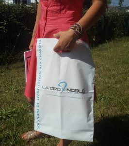 sac plastique PDS imprimé 2 couleurs